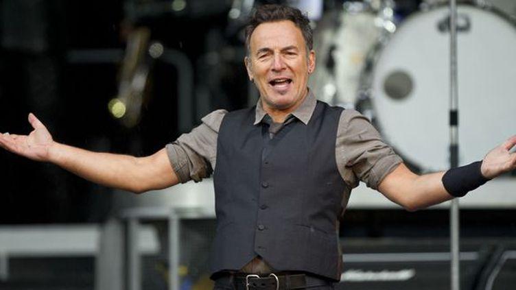 Bruce Springsteen sur scène à Munich (Allemagne) le 26 juin 2013.  (Lukas Barth / DPA / AFP)