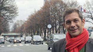 """Romain Puèrtolas va voir son premier roman, """"L'extraordinaire voyage du fakir..."""", grand succès en librairie, porté à l'écran par Marjane Satrapi.  (Daniel Fouray / Ouest France / PHOTOPQR / MAXPPP)"""