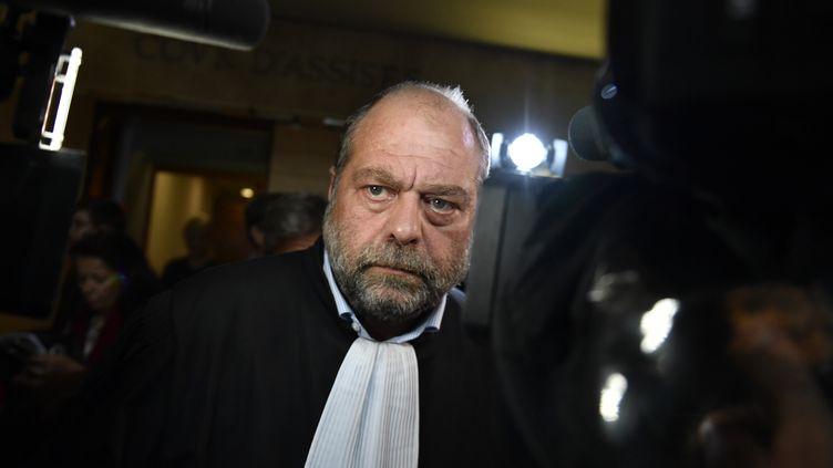 Eric Dupond-Moretti, à la cour d'assises des Bouches-du-Rhône, à Aix-en-Provence, le 17 octobre 2018 (illustration). (GERARD JULIEN / AFP)