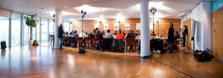 Le jury du Prix Roman France Télévisions en pleine réunion  (Vincent PANCOL)
