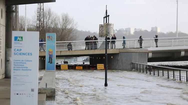La Garonne a débordé à Bordeaux, le 13 févier 2016. (SALINIER QUENTIN / MAXPPP)