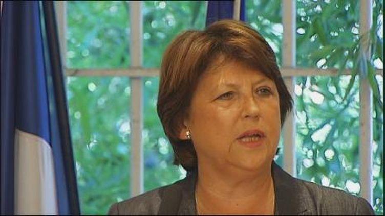 Martine Aubry à Marseille le 29 aout 2011 (France 3)