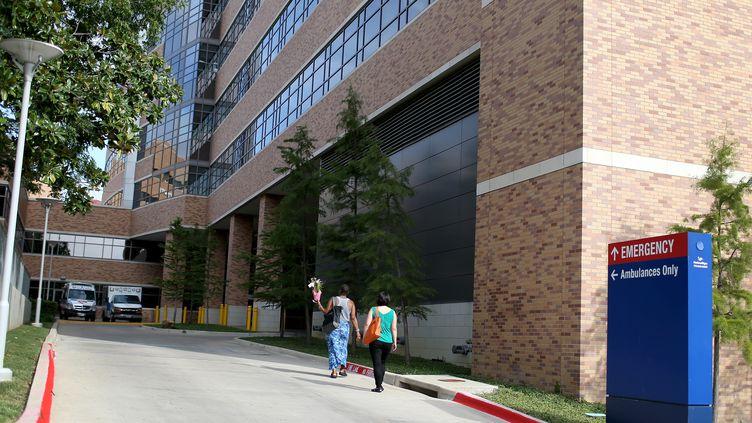 Une vue générale de l'hôpital du Texas où un Libérien est mort, le 8 octobre 2014. (JOE RAEDLE / GETTY IMAGES NORTH AMERICA / AFP)