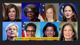 Le cabinet très féminin de Joe Biden (FRANCEINFO)
