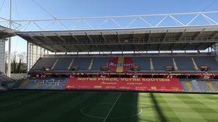 Le stade Felix Bollaert-Delelis de Lens, en avril 2021. (Florent Vautier / RADIO FRANCE)