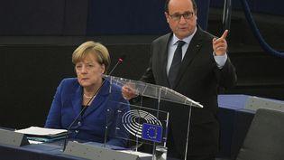 François Hollande au Parlement européen de Strasbourg, le 7 octobre 2015 (CITIZENSIDE / ELYXANDRO CEGARRA / AFP)