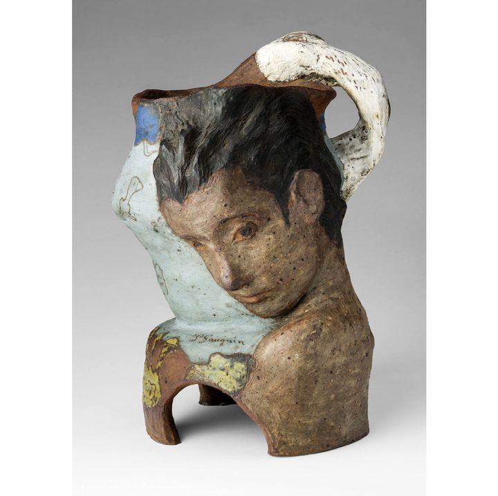 """Paul Gauguin, """"Vase avec Léda et le cygne"""", hiver 1887-1888, collection particulière  (Collection particulière)"""