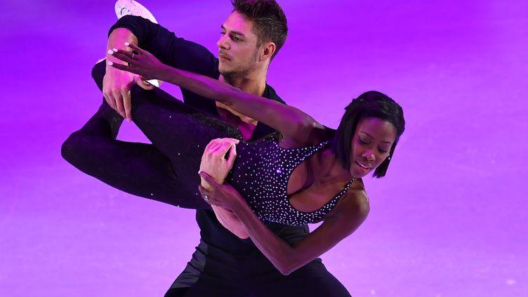Vanessa James et Morgan Ciprès. (DANIEL MIHAILESCU / AFP)
