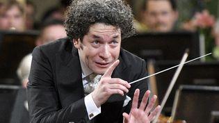 Le chef d'orchestre vénézuélien Gustavo Dudamel (2017)  (HERBERT NEUBAUER / APA / AFP)