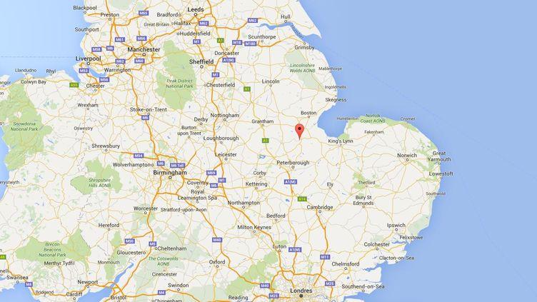 Une fusillade à Spalding (Royaume-Uni) a fait trois morts, dont le tireur présumé, le 19 juillet 2016. (GOOGLE MAPS)
