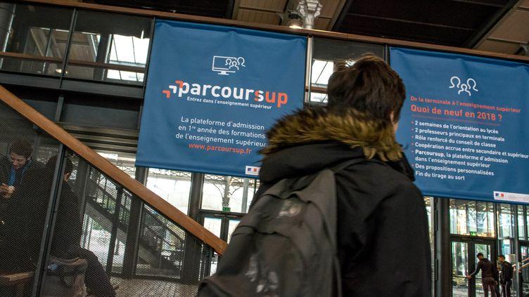 Le Salon Postbac à la Grande Halle de la Villette, le 12 janvier 2018. (MAXPPP)