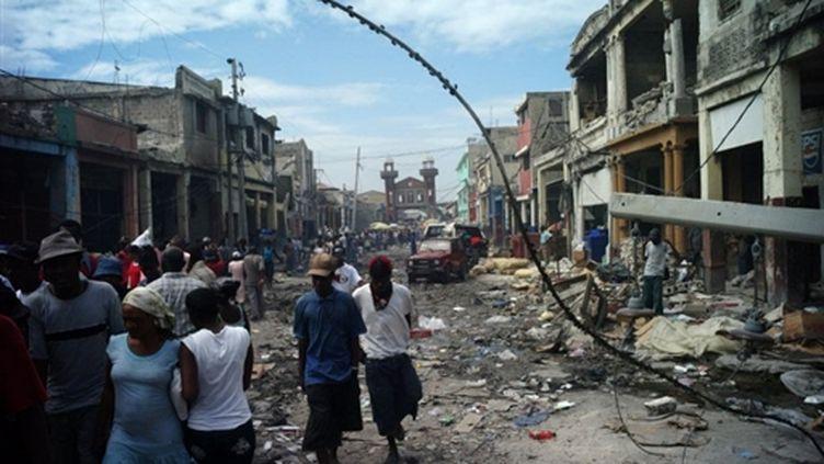 Une rue d'Haïti fin janvier 2010 (AFP - OLIVIER LABAN-MATTEI)