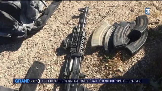 Le fiché S des Champs-Élysées était détenteur d'un port d'armes