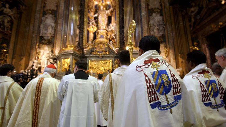 Des jésuites italiens, le 7 janvier 2008, à Rome (Italie). (FILIPPO MONTEFORTE / AFP)