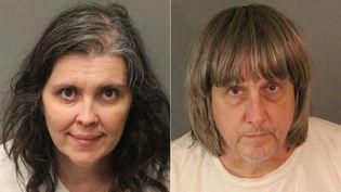 Louise Anna et David Allen Turpin ont été arrêtés le 14 janvier 2018 à Perris (Californie, Etats-Unis), pour avoir séquestré et affamé leurs treize enfants. (JOSE ROMERO / RIVERSIDE COUNTY SHERIFF'S DEPAR / AFP)