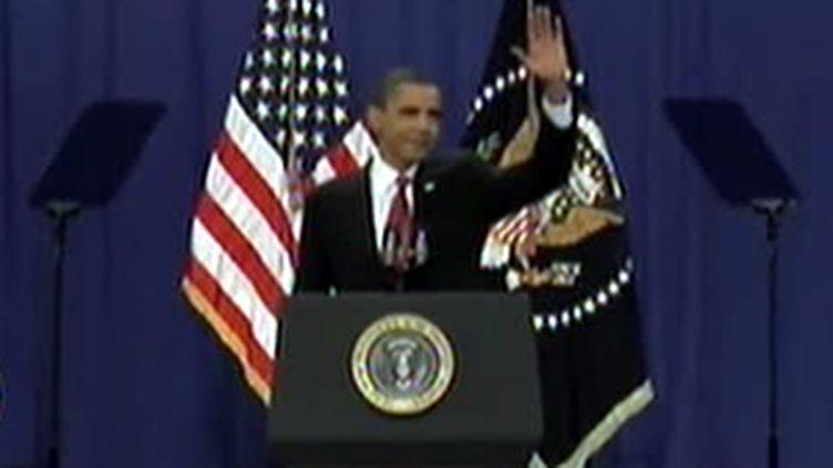 Barack Obama pendant son discours à l'académie militaire de West Point (France 2)