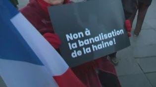 La France était mobilisée mardi 19 février pour dire non à l'antisémitisme, avec des rassemblements à Paris et toutes les grandes villes du pays. (CAPTURE D'ÉCRAN FRANCE 3)