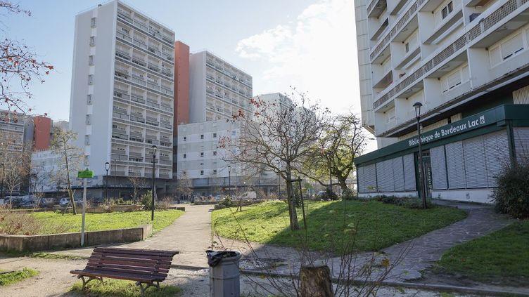 Le quartier des Aubiers à Bordeaux a été le théâtre d'une fusillade mortelle le 2 janvier 2021. (THIBAUD MORITZ / AFP)