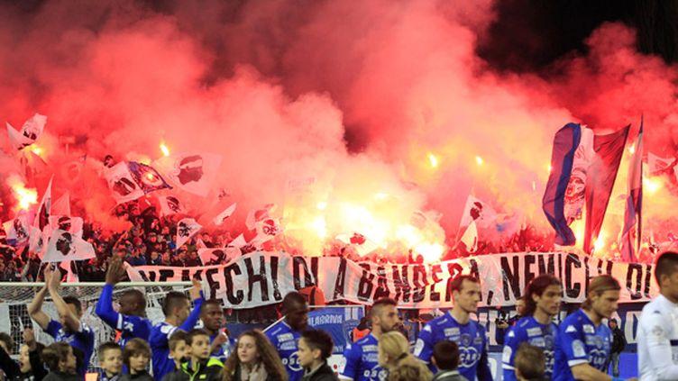 Les supporters du Stade Armand-Cesari de Bastia (PASCAL POCHARD CASABIANCA / AFP)
