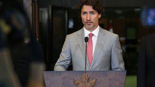 Le Premier ministre canadien Justin Trudeau à Ottawa (Canada), le 18 août 2020. (DAVE CHAN / AFP)