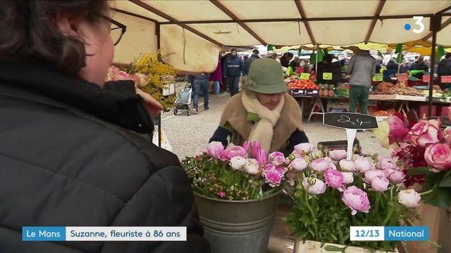 Sarthe : Suzanne, fleuriste au Mans à 86 ans
