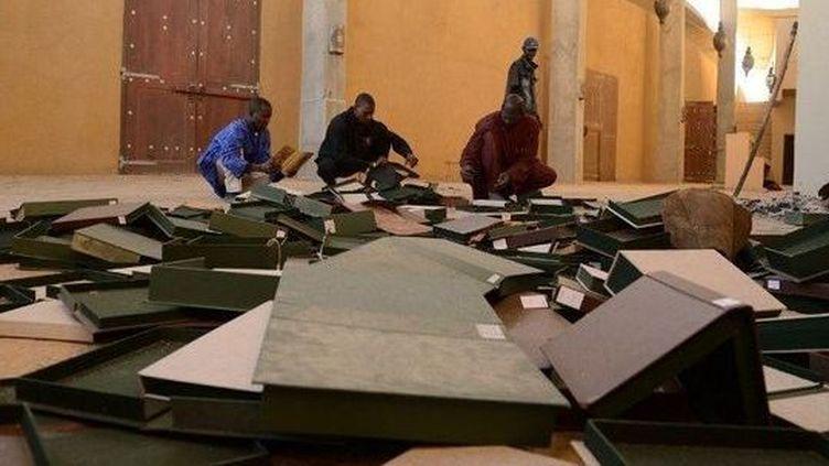 Le Centre de documentation et de recherche historique Ahmed-Baba àTombouctou -Janvier 2013  (AFP PHOTO / Eric Feferberg)