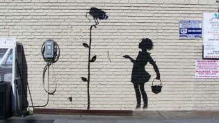 """""""Flower Girl"""" Banksy, sera mis aux enchères par Julien's Auction en décembre prochain  (AP/SIPA)"""