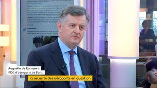 Augustin de Romanet, PDG d'aéroports de Paris (ADP) (FRANCEINFO)