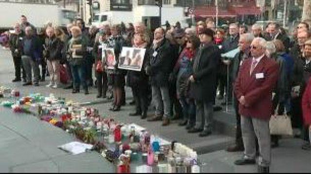 Hommage à Paris aux familles françaises de victimes du musée du Bardo de Tunis, un an après