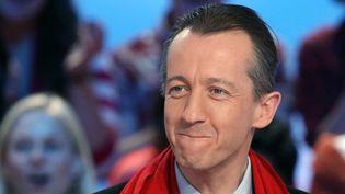 """Christophe Barbier, journaliste, comédien et désormais """"académicien""""  (KENZO TRIBOUILLARD / AFP)"""