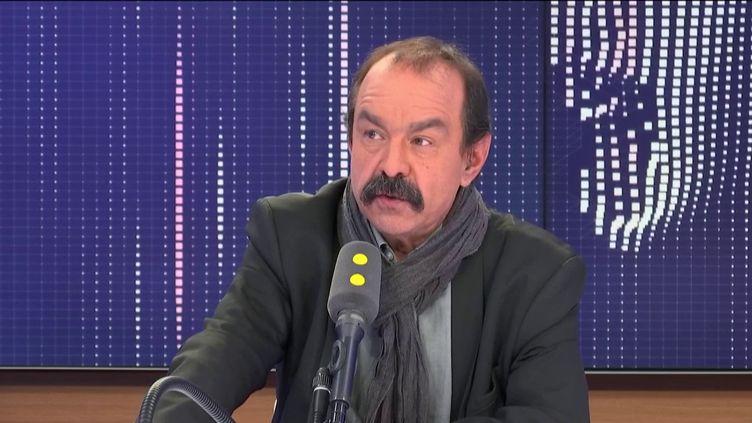 Philippe Martinez était l'invité de franceinfo mardi 24 décembre. (FRANCEINFO / RADIOFRANCE)