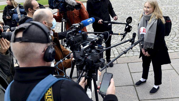 Aava Murto a passé une journée dans la peau de la première ministre finlandaise. (HEIKKI SAUKKOMAA / LEHTIKUVA)