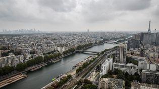 Une vue aérienne de Paris, le 17 septembre 2019. (THOMAS SAMSON / AFP)
