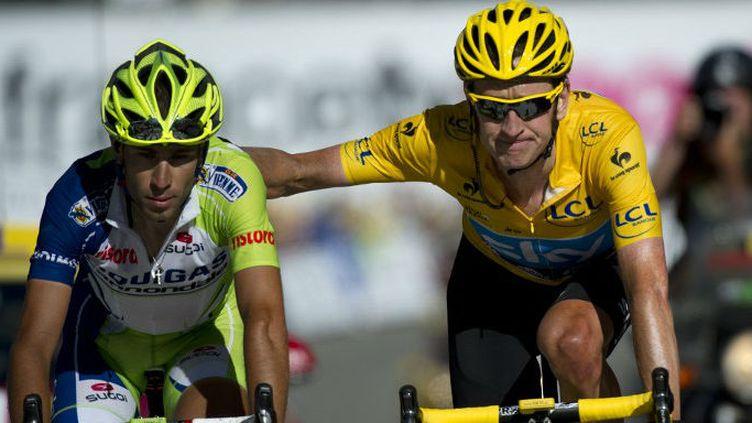 Vicenzo Nibali et Bradley Wiggins