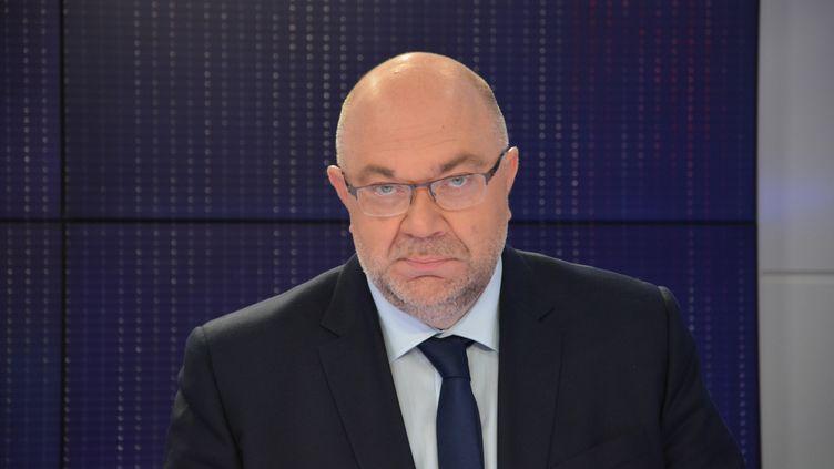 Stéphane Travert, ministre de l'Agriculture et de l'Alimentation.  (JEAN-CHRISTOPHE BOURDILLAT / RADIO FRANCE)