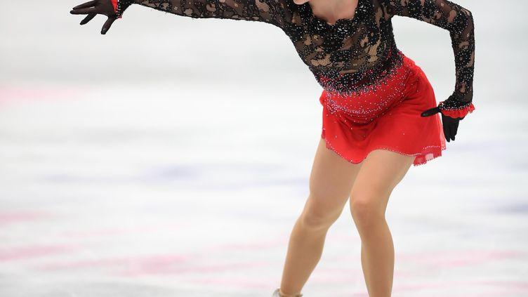 La jeune patineuse russe, Alina Zagitova. (ATSUAHI TAKETAZU / YOMIURI)