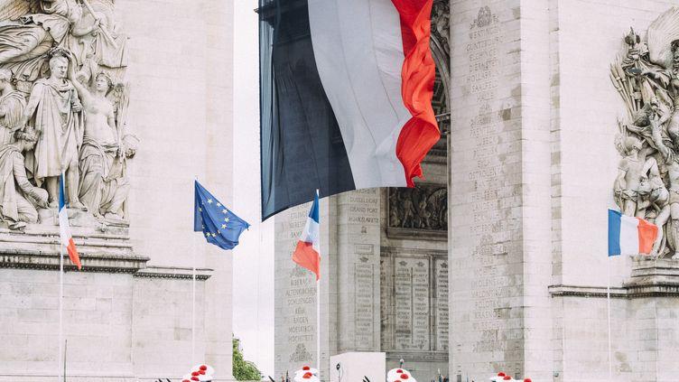 Les commémorations du 8-Mai, le 8 mai 2019, sur les Champs-Elysées, à Paris. (DENIS MEYER / HANS LUCAS / AFP)