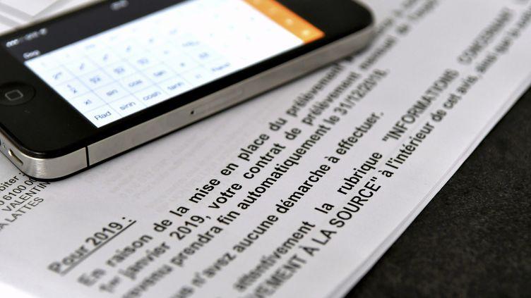 Le prélèvement des impôts à la source au 1er janvier 2019 n'est pas encore décidé (illustration). (SYLVIE CAMBON / MAXPPP)