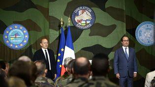 Le Président François Hollande donne un discours le 13 mai2016 à Bangui (Centrafrique). (STEPHANE DE SAKUTIN / POOL / AFP)