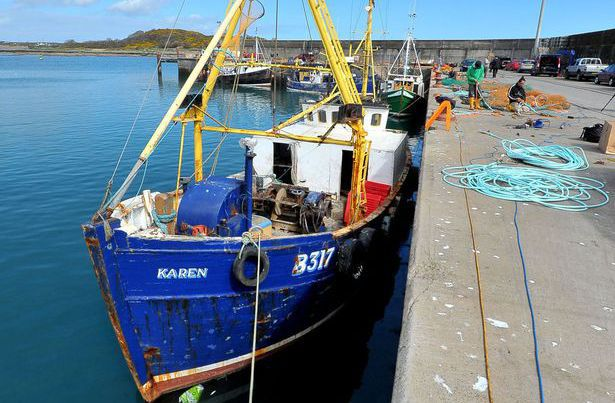 Le «Karen» à quai. Il a failli être coulé par un sous-marin. (Photopress Belfast)