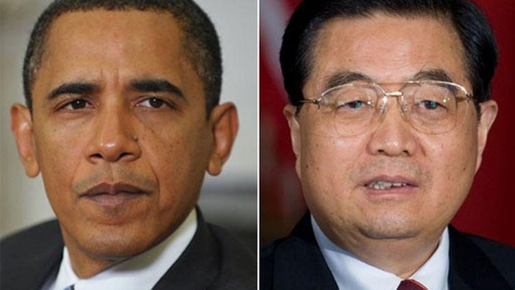 Barack Obama - Hu Jintao (M. Ngan/S. Loeb)