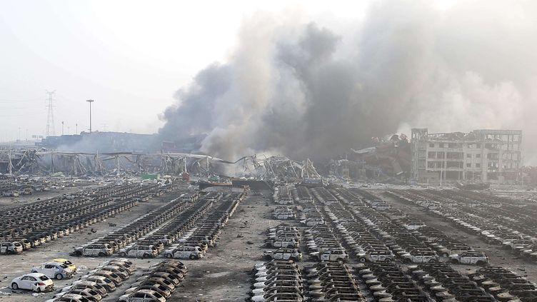 Un entrepôt a explosé à Tianjin (Chine), le 13 août 2015. (TPG / NEWSCOM / SIPA)