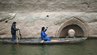 Découverte d'un Bouddha dans un réservoir en Chine  ( CHINE NOUVELLE/SIPA)