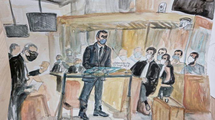 Au procès du 13-Novembre, à Paris, le commissaire intervenu le premier au Bataclan livre son témoignagnemercredi 22 septembre 2021. (ELISABETH DE POURQUERY / FRANCEINFO)