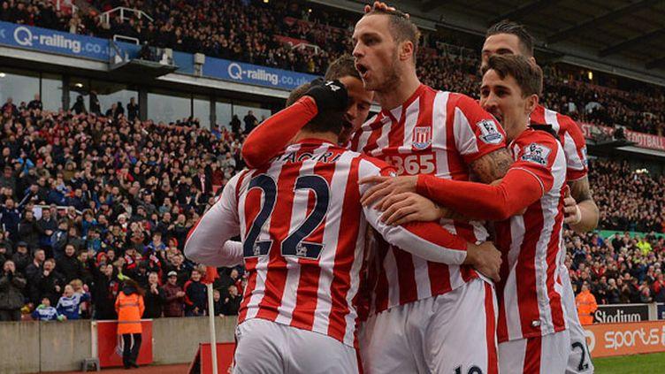 La joie des joueurs de Stoke City