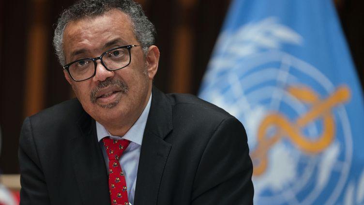 Le directeur général de l'OMS TedrosAdhanom Ghebreyesus, le 22 mai 2020. (CHRISTOPHER BLACK / WORLD HEALTH ORGANIZATION / AFP)