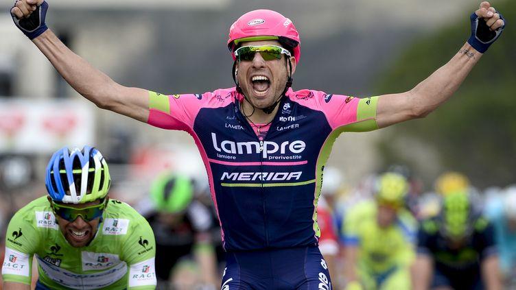 Davide Cimolai (Lampre) vainqueur au sprint (DIRK WAEM / BELGA MAG)
