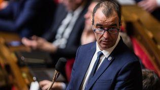 Éric Bothorel, lors d'une séance de questions au gouvernement à l'Assemblée nationale, en 2019. (AURELIEN MORISSARD / MAXPPP)