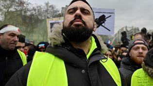 """Le leader des """"gilets jaunes"""" Eric Drouet, le 2 février 2019 à Paris. (MUSTAFA YALCIN / ANADOLU AGENCY / AFP)"""