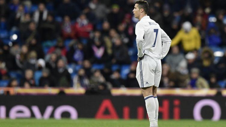 Cristiano Ronaldo semble hébété (JAVIER SORIANO / AFP)